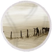 Fix On The Prairie Round Beach Towel