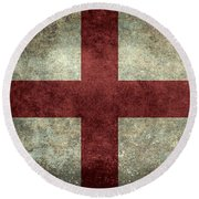 Flag Of England St Georges Cross Vintage Version To Scale Round Beach Towel