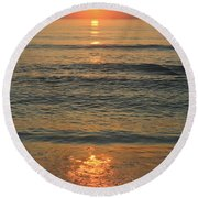 Flagler Beach Sunrise Round Beach Towel