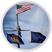 Flags Round Beach Towel