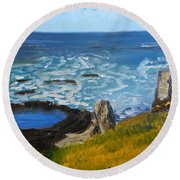 Flagstaff Point  Round Beach Towel