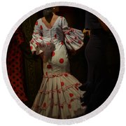 Flamenco Dancer #14 Round Beach Towel by Mary Machare