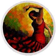 Flamenco Round Beach Towel