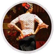 Flamenco Series #5 Round Beach Towel