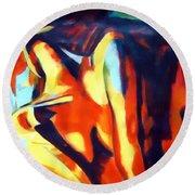 Flames Of Needs Round Beach Towel by Helena Wierzbicki