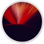 Flaming Planet Round Beach Towel