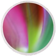 Flaming Tulip Round Beach Towel