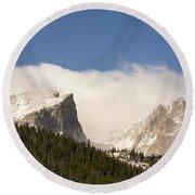 Flat Top Mountain - Rocky Mountain National Park Estes Park Colorado Round Beach Towel