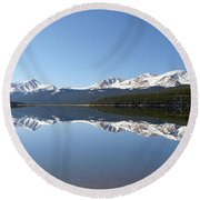 Flat Water Round Beach Towel