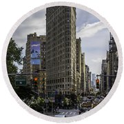 Flatiron Building Round Beach Towel