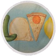 Flavor Round Beach Towel