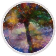 Flavours Of Autumn Round Beach Towel by Klara Acel
