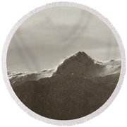 flawy mount peak I Round Beach Towel