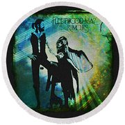 Fleetwood Mac - Cover Art Design Round Beach Towel by Absinthe Art By Michelle LeAnn Scott