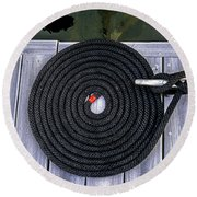 Flemish Flake Rope Coil Round Beach Towel