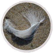 Round Beach Towel featuring the photograph Flight by Christiane Hellner-OBrien