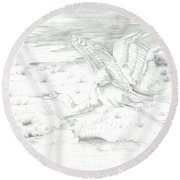 Flight Of Grace Round Beach Towel