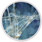 Flight Path- Abstract Painting Round Beach Towel