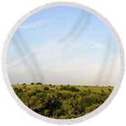 Flint Hills 2 Round Beach Towel