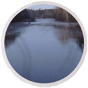 Round Beach Towel featuring the photograph Flint River 1 by Kim Pate