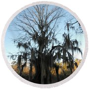 Round Beach Towel featuring the photograph Flint River 13 by Kim Pate