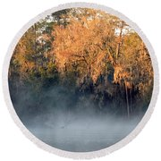 Round Beach Towel featuring the photograph Flint River 14 by Kim Pate