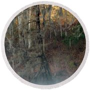 Round Beach Towel featuring the photograph Flint River 15 by Kim Pate