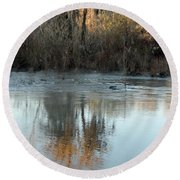 Round Beach Towel featuring the photograph Flint River 17 by Kim Pate
