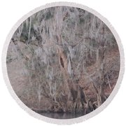 Round Beach Towel featuring the photograph Flint River 2 by Kim Pate