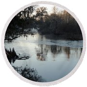Round Beach Towel featuring the photograph Flint River 20 by Kim Pate