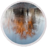 Round Beach Towel featuring the photograph Flint River 22 by Kim Pate