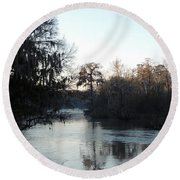 Round Beach Towel featuring the photograph Flint River 23 by Kim Pate