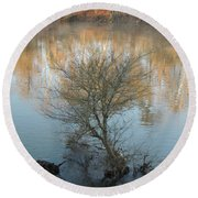 Round Beach Towel featuring the photograph Flint River 24 by Kim Pate