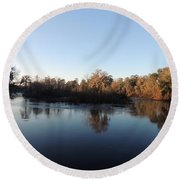 Round Beach Towel featuring the photograph Flint River 26 by Kim Pate