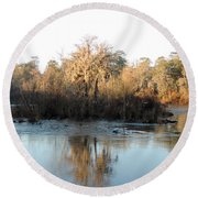 Round Beach Towel featuring the photograph Flint River 27 by Kim Pate