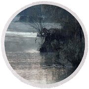 Round Beach Towel featuring the photograph Flint River 28 by Kim Pate