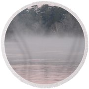Flint River 3 Round Beach Towel