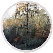 Round Beach Towel featuring the photograph Flint River 30 by Kim Pate