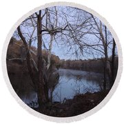 Round Beach Towel featuring the photograph Flint River 4 by Kim Pate