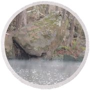 Round Beach Towel featuring the photograph Flint River 5 by Kim Pate