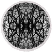 Tree No. 11 Round Beach Towel
