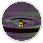 Floating On Water Round Beach Towel