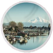 Floating World Round Beach Towel