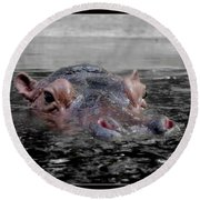 Round Beach Towel featuring the photograph Flooding by Michelle Meenawong