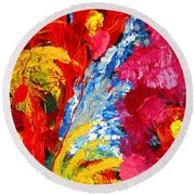 Floral Abstract Part 2 Round Beach Towel