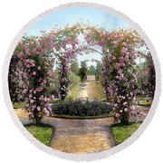 Floral Arch Round Beach Towel by Terry Reynoldson