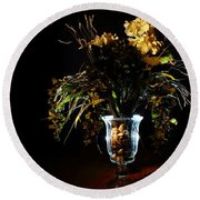 Round Beach Towel featuring the photograph Floral Arrangement by David Andersen