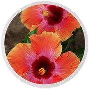 Floral Beauty 2  Round Beach Towel