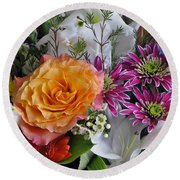 Floral Bouquet 6 Round Beach Towel
