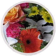 Floral Bouquet 7 Round Beach Towel